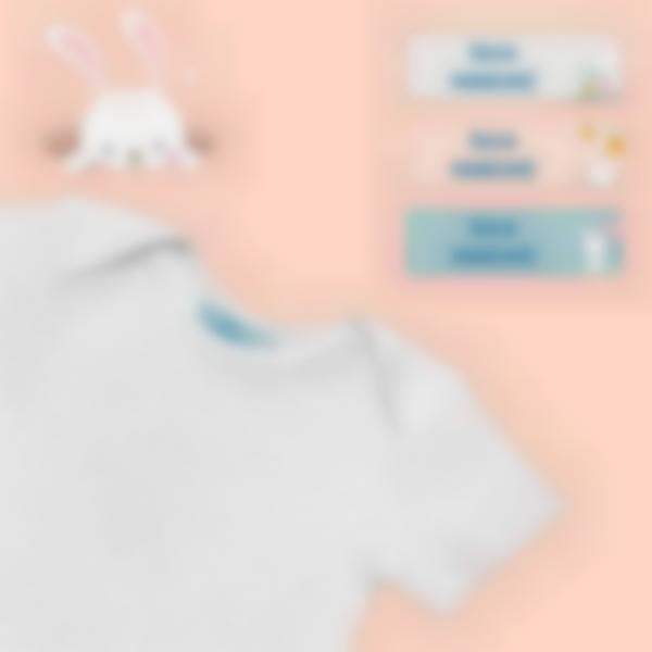 4 pacchetto etichette asilo nido vestiti coniglietto