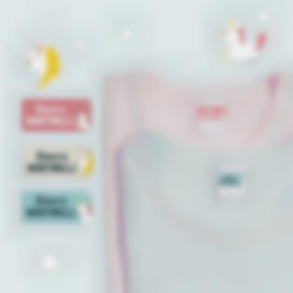 4 pacchetto etichette nominative vestiti scuola unicorno