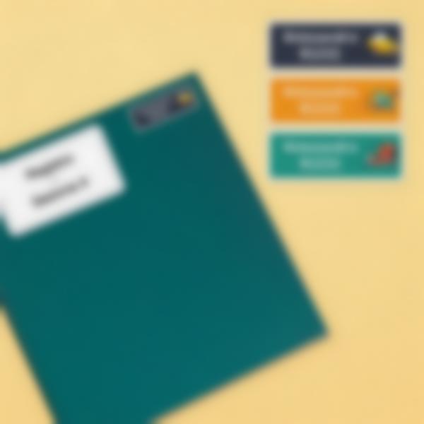 4 pacchetto etichette scuola materna con nome bambini veicoli