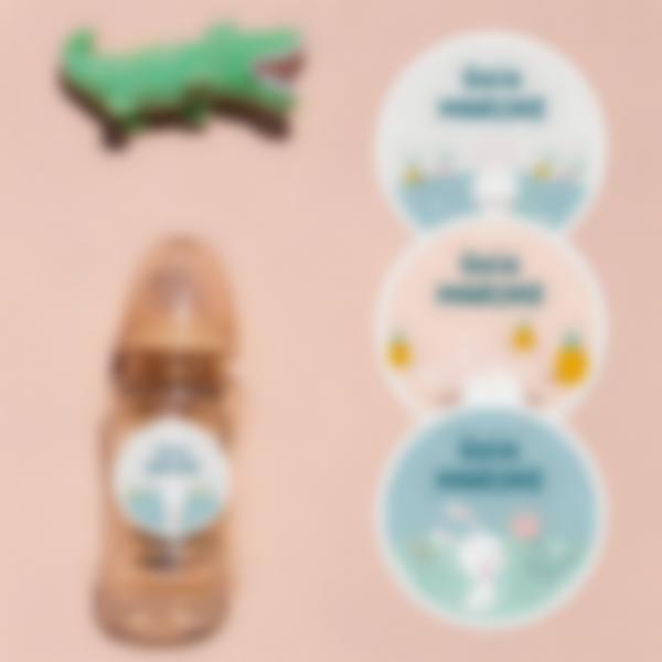 5 pacchetto etichette asilo nido vestiti coniglietto