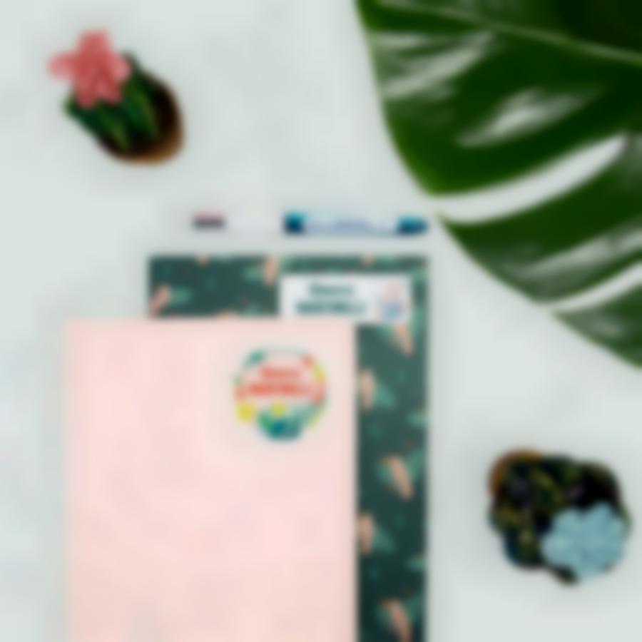 5 pacchetto etichette personalizzate scuola tropical