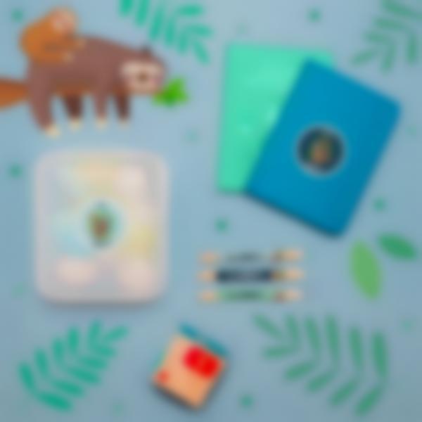 5 pacchetto etichette scuola materna con nome bambini bradipo