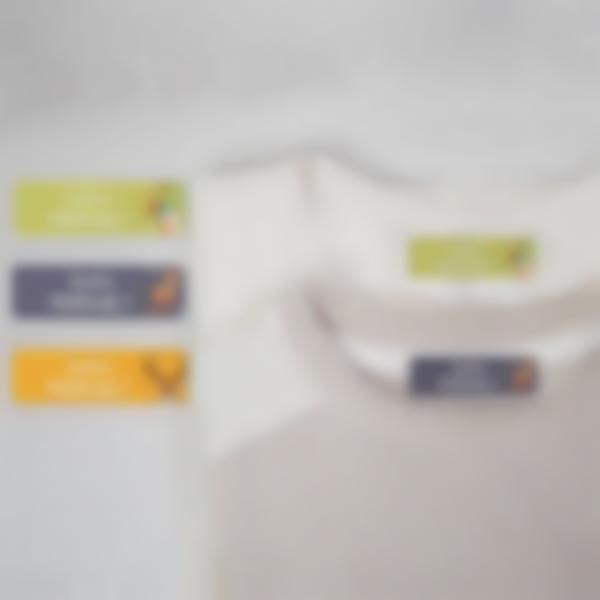 5 pacchetto etichette termoadesive gite