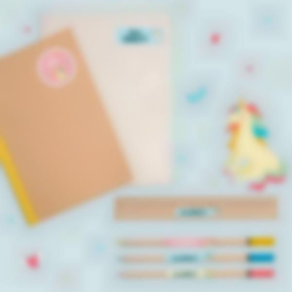 6 pacchetto adesivi etichette materiale scolastico unicorno 21