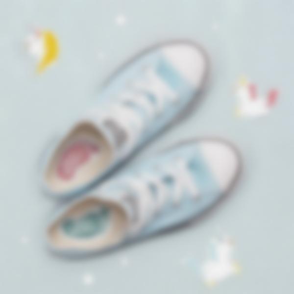 6 pacchetto etichette scarpe scuola con nome unicorno