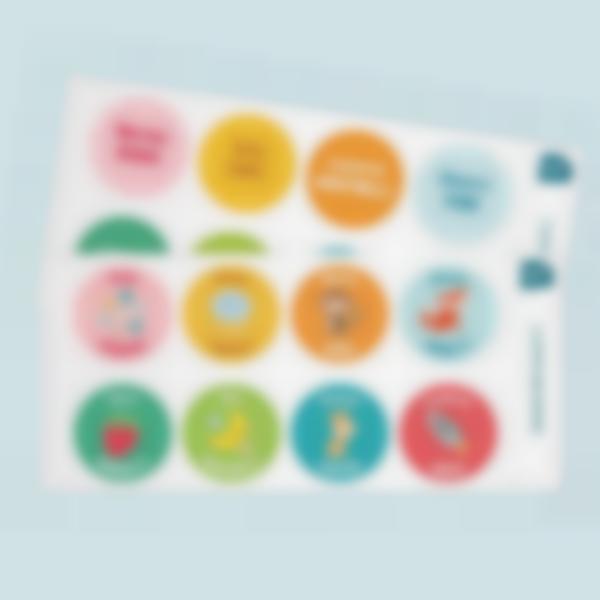 adesivi rotondi testi multipli 2 1