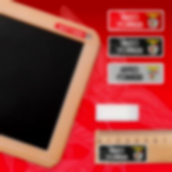 benfica etiquetas objetos rectangulares