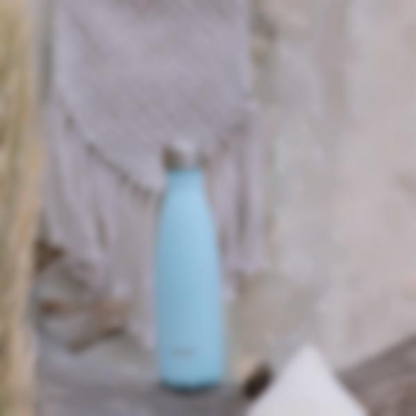 borraccia termica acciaio inox pastel blu 500ml ambiance