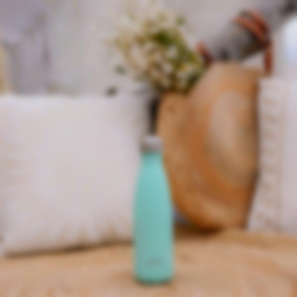 borraccia termica acciaio inox pastel verde 500ml ambiance