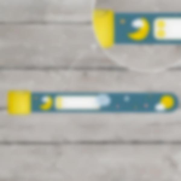 braccialetto identificativo sicurezza bambino nuvolette