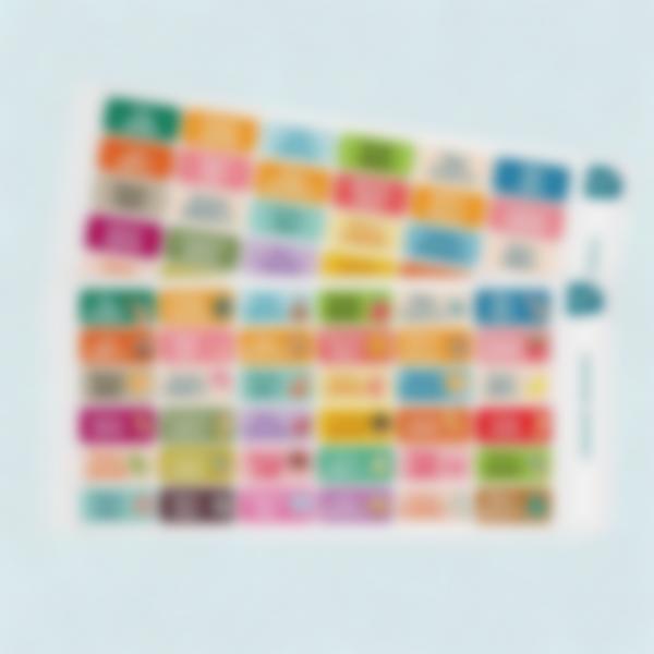 etichette adesive testo multiplo ludisticks 2