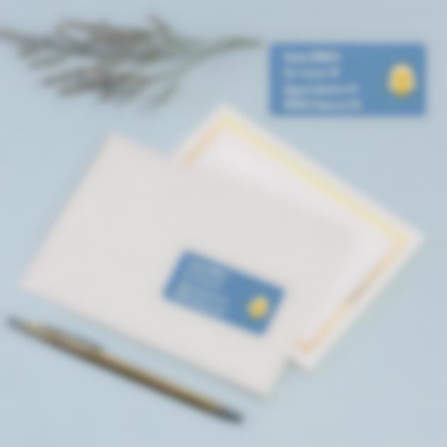 etichette busta mailing inviti battessimo