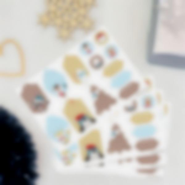 etichette natale ludilabel blu oro 1
