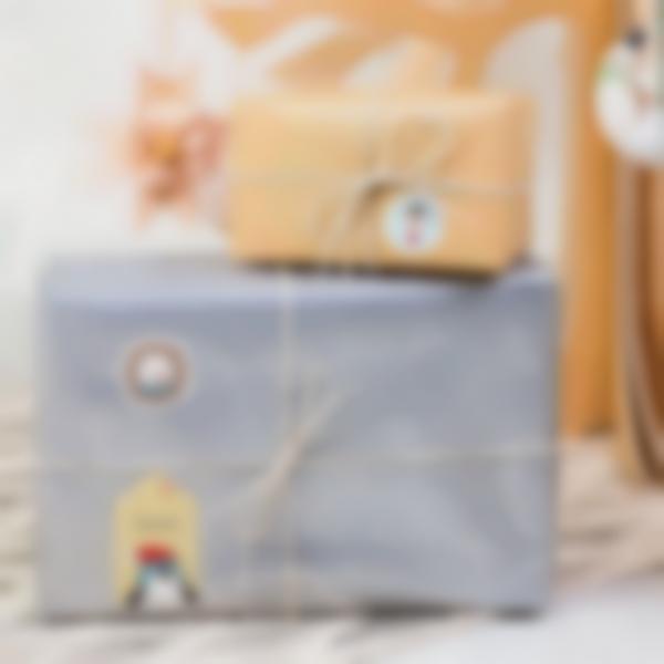 etichette natale ludilabel blu regali