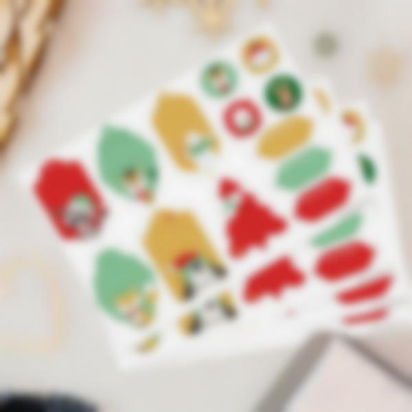 etichette natale ludilabel rosso verde 1
