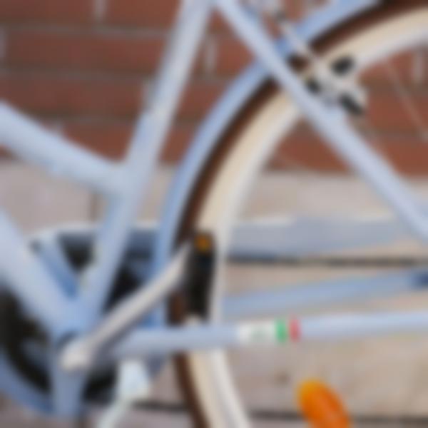 etichette personalizzate per bicicletta con la bandiera italiana 2