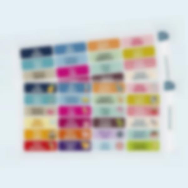 etichette vestiti stirabili testo multiplo 2