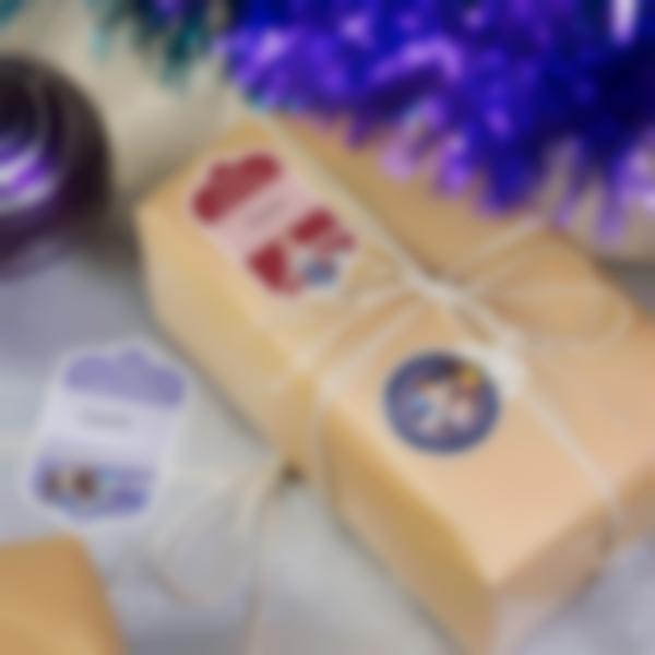 etiquette noel frozen disney regali