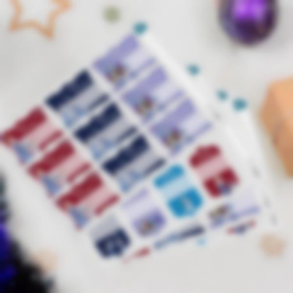 etiquettes noel cadeaux enfants frozen disney 3