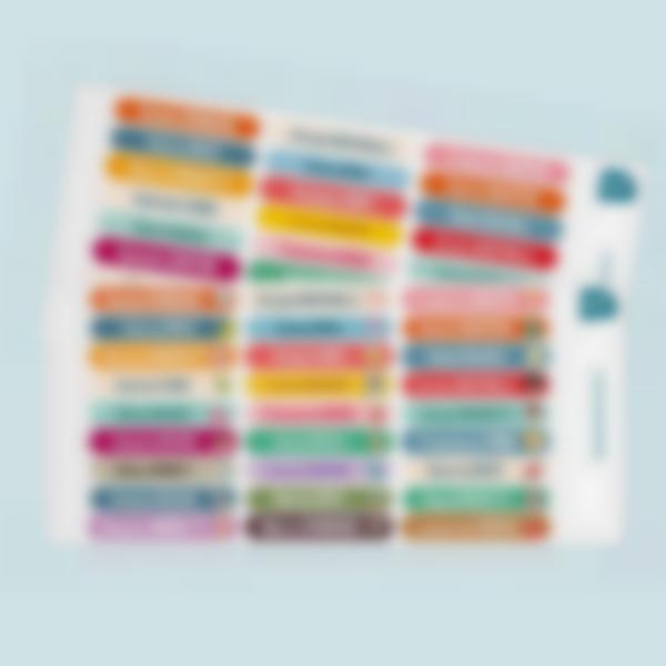 mini etichette adesive testo multiplo 2