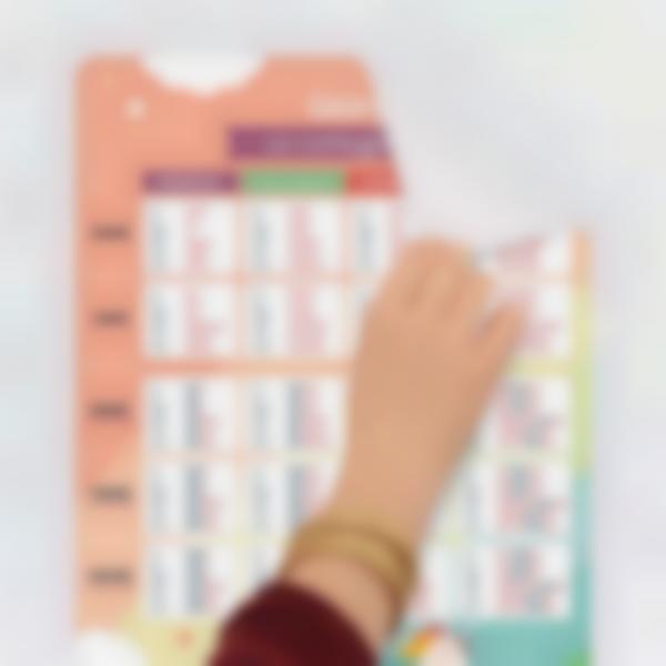 poster educativo personalizzato tabelle delle coniugazioni 0