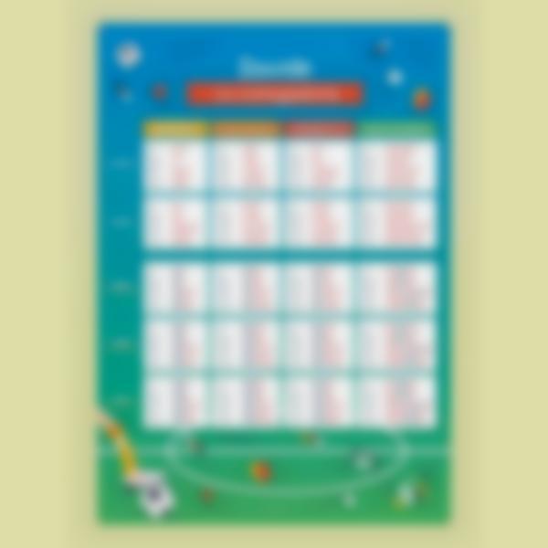 poster educativo personalizzato tabelle delle coniugazioni calcio 2 1