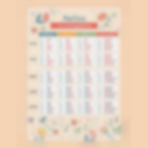 poster educativo personalizzato tabelle delle coniugazioni fiori 1 1