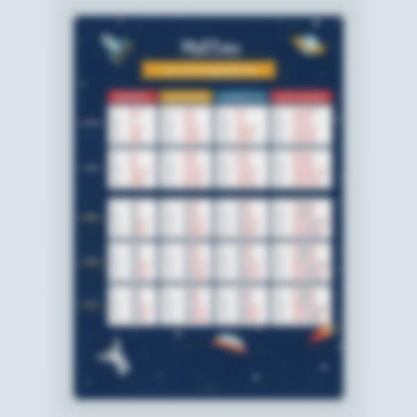 poster educativo personalizzato tabelle delle coniugazioni spacio 1 1