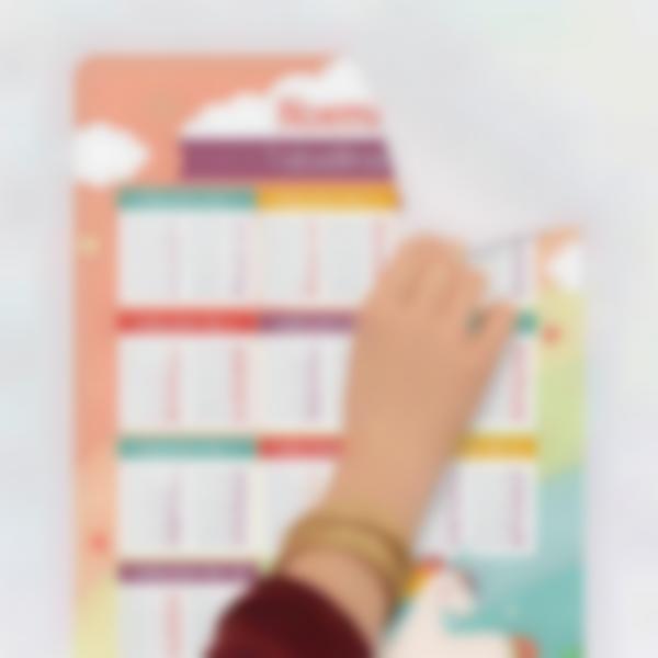 poster educativo tabelle delle moltiplicazioni 0