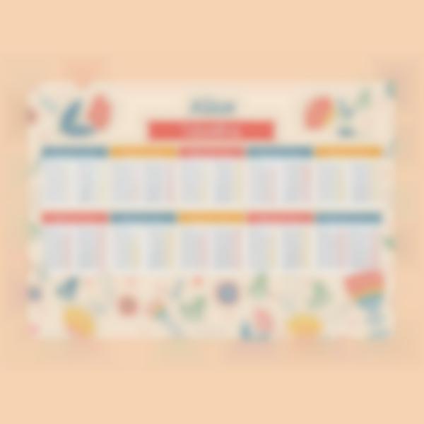 poster educativo tabelle delle moltiplicazioni fiori 1 1