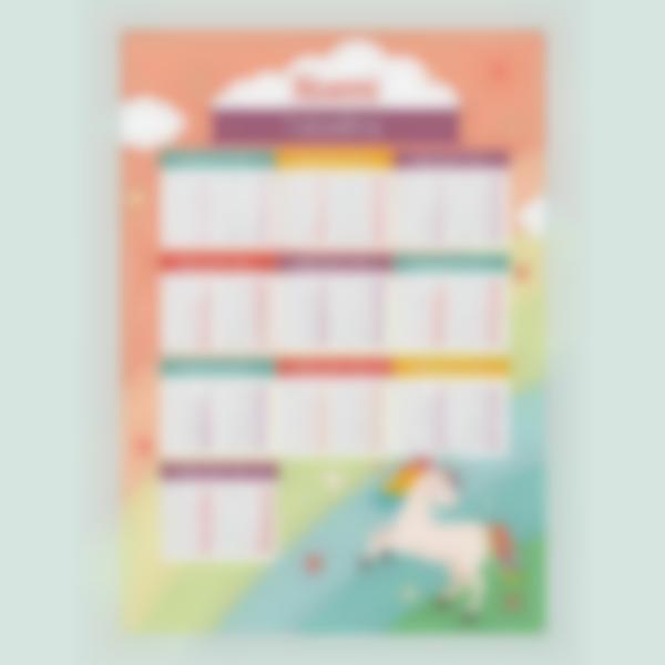 poster educativo tabelle delle moltiplicazioni unicornio 1 1