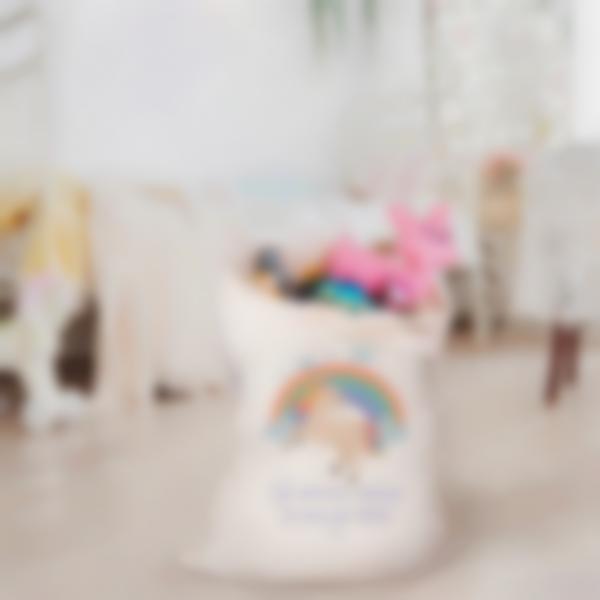 sacca giocattoli tessuto unicorno 2 2