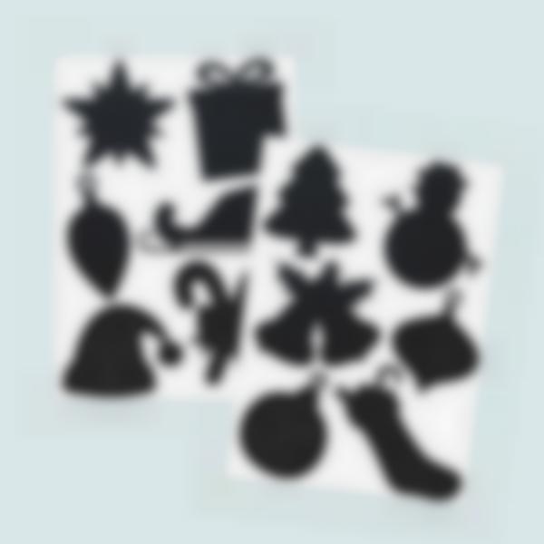 sticker etichette adesive lavagnetta natale 1 1
