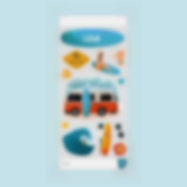 sticker princesse cantimplora borracio bottle garrafa surf 2
