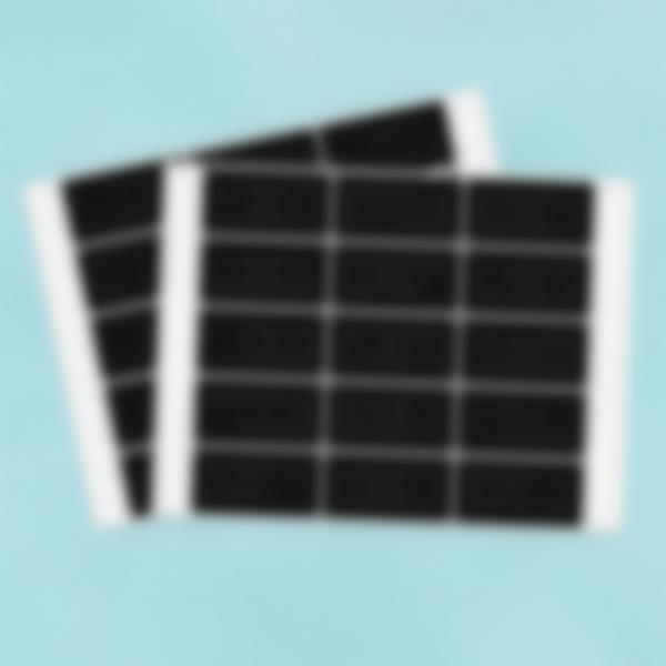 30 piccole etichette adesive lavagnetta - Rettangolare