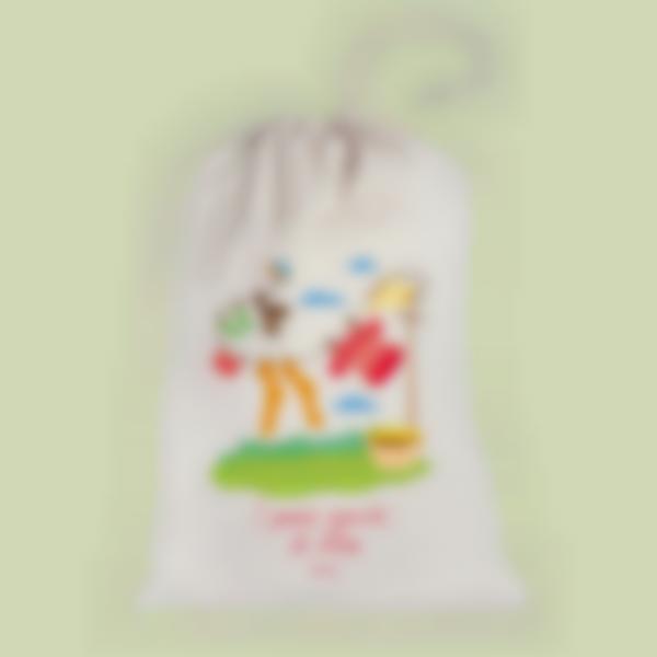 Borsa per il bucato in tessuto - Filo per il bucato - Grande (L)