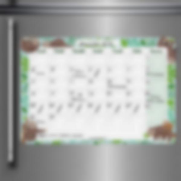 Calendario da frigorifero Mensile scrivibile