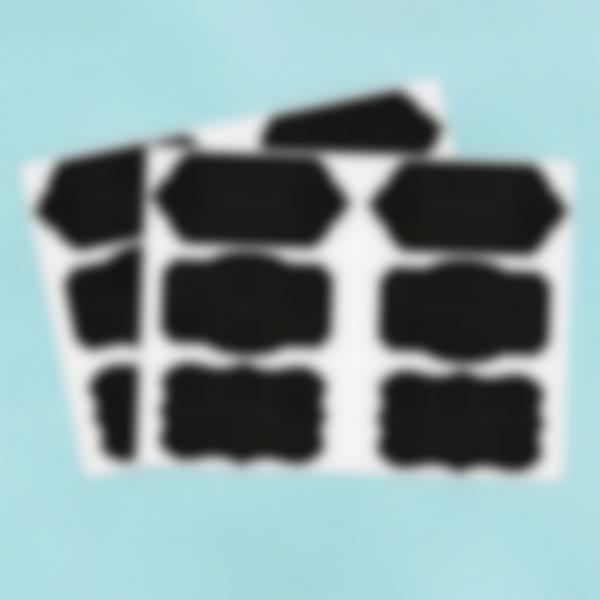 12 grandi etichette adesive di lavagnetta - Barocca