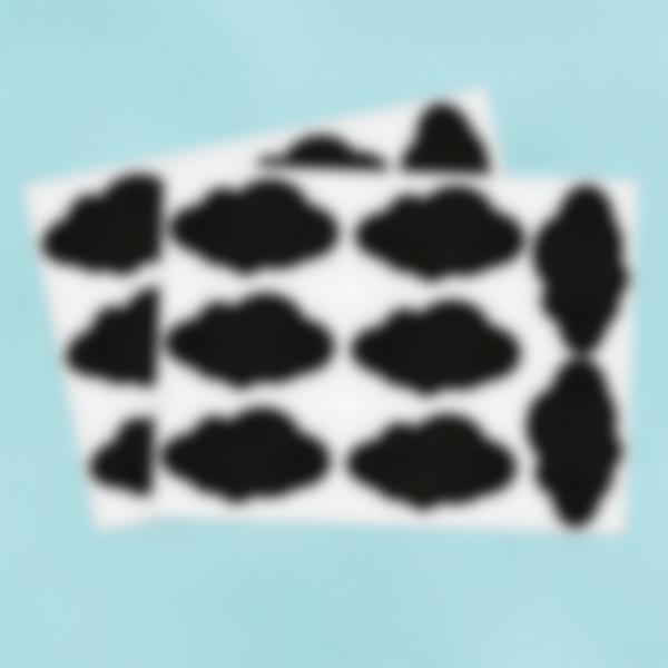 16 piccole etichette adesive lavagnetta - Nuvola