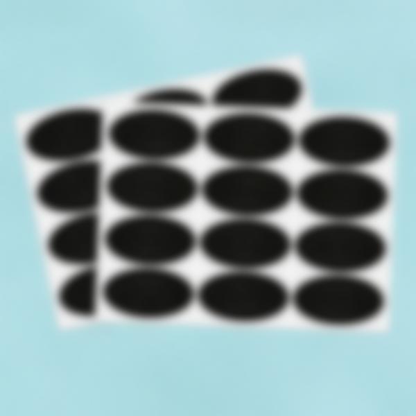 24 piccole etichette adesive Lavagnetta - Ovale