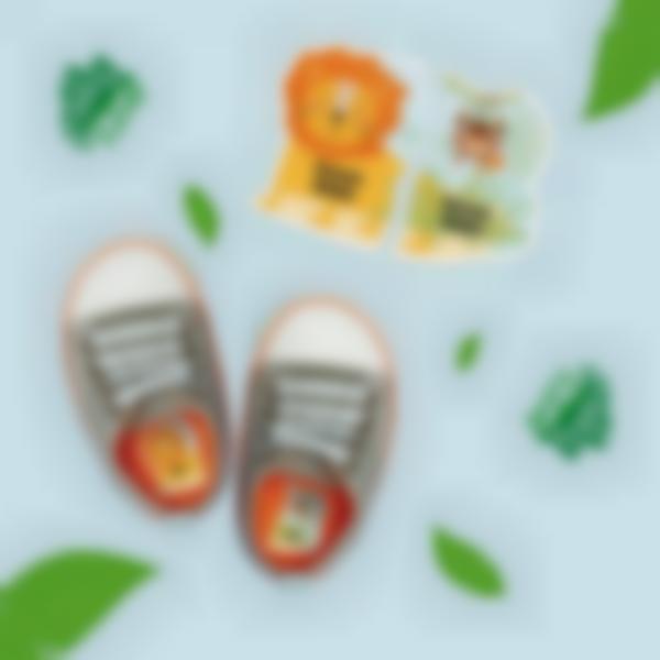 Etichette intuitive Sinistra/Destra per scarpe