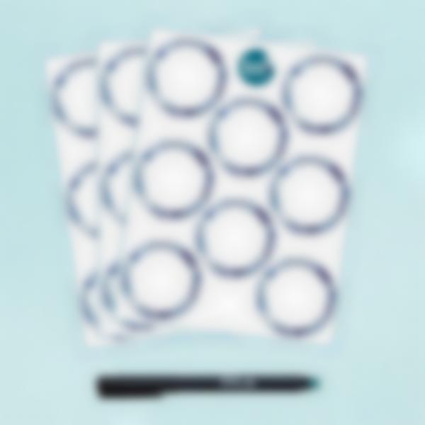 Etichette bianche rotonde cancellabili x 24 - Azulejos