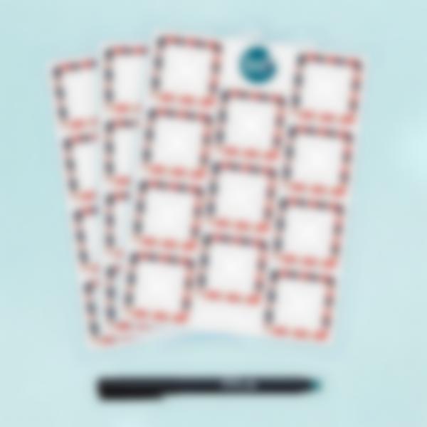 Etichette bianche quadrate scrivibili x 33 - Nina