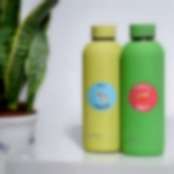 Adesivi Rotondi per borraccia e bottiglie - Diversi nomi