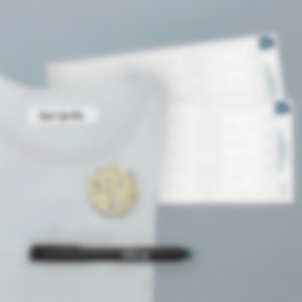 Etichette Bianche Termoadesive per vestiti