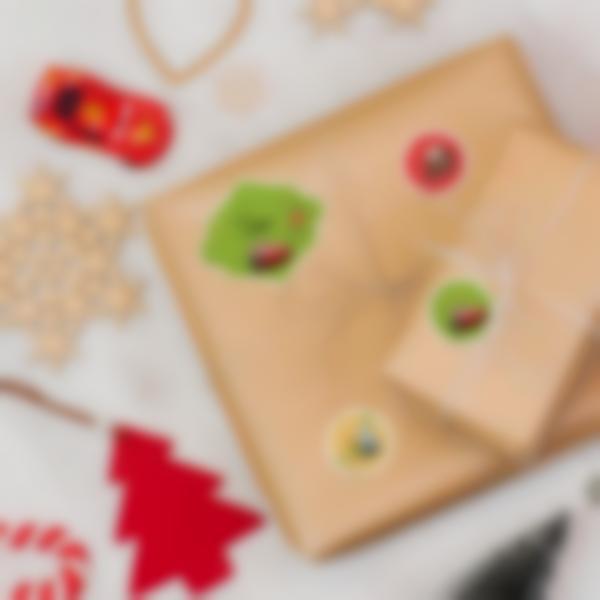 Etichette per contrassegnare i regali di Natale - Cars