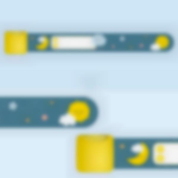 Braccialetto identificativo per bambini - Nuvolette