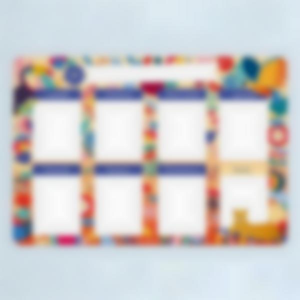 Calendario da frigorifero Settimanale scrivibile - Jungle Vibes