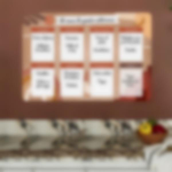 Calendario da frigorifero Settimanale scrivibile