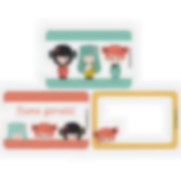 Kit di 3 carte extra per la Ludibox - Porta merenda – Kokeshi